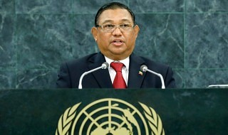 Wunna Maung Lwin, Minister for Foreign Affairs of Myanmar. UN Photo/Amanda Voisard