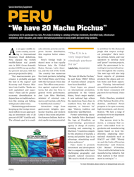 PERU: We have 20 Machu Picchus